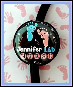 LABOR & DELIVERY NURSE CUSTOM NAME STETHOSCOPE ID Tag with your name