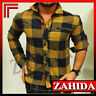 """"""" Zahida """" long sleeve men's shirt Party Club Checkered Plaid S M L XL XXL NEW"""