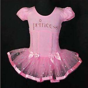 Girl Pink Ballet Tutu Dance Costume Princess Fair Dress Leotard Size 2T-7 BA007
