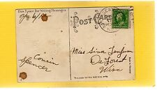 Portage & Madison WI RPO 1912 Cancel on Easter postcard a short run approx. 30m