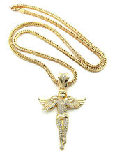 """NEW ICED OUT ANGEL PIECE WITH 36"""" FRANCO CHAIN."""
