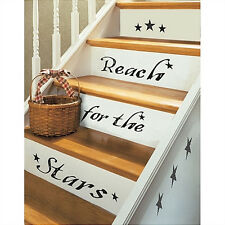 Quote: REACH FOR THE STARS wall stickers room decor 19 decals inspirational