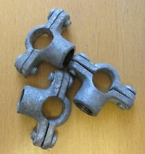 """Set of 3 Galvanised Iron Pipe Rings for 1/4"""" BSP Pipe with 1/4""""BSP Thread"""