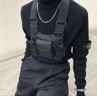 Chest Rig Bag Fanny Pack For Men Fashion Nylon Vest Hip Hop Streetwear Accessory