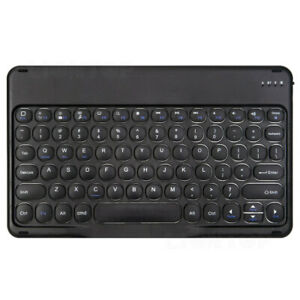 Wireless Bluetooth Round Keyboard Mouse For Android Windows iOS Tablet PC Laptop