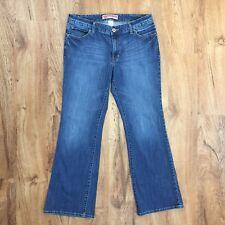 Gap Curvy Flare Jeans Stretch Denim Button Flap Back Pockets Womens Size 12 A