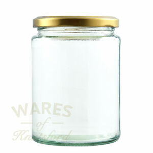 Deluxe Glass Jam Jars, 300ml, Packs:12-192, With Lids, Preserves, Pickles, New*