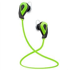 Green Wireless Bluetooth Headphones In-Ear Surround Sound Sports Earphones