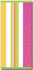 Saunatuch Liegetuch Strandtuch Badetuch 70x180 cm pink grün gelb 100 % Baumwolle