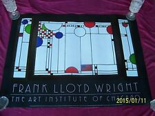 "CHICAGO INSTITUTE'S 1986 Presentation Poster, "" Frank Lloyd Wright "" the artist!"