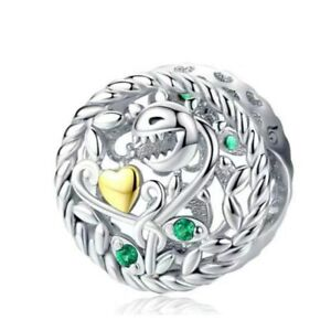 Hot Silver Cz European Charms Beads Fit Bracelet Necklace Jewelry Making Diy A93