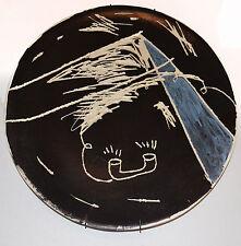 Sergio Garcia Artist ceramic PLATE.Telephone.Pyramids.Aliens.Cuban American Art