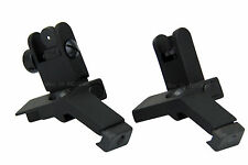 Front and Rear Flip Up 45 Degree Offset Rapid Transition Backup Iron Sight Alumi