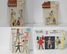 4 Vintage CHILDREN'S COSTUME PATTERNS Lady Liberty Clown Harem Snow White Mouse