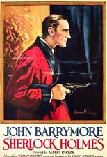 Sherlock Holmes John Barrymore 1922 Silent Movie Poster 6x4 Inch Reprint