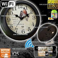 Wireless Home Security System Camera WIFI IP Room Clock cam 1080P No Spy Hidden
