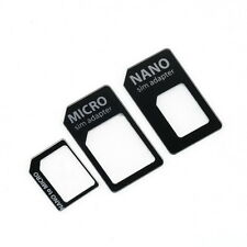 3 in 1 Nano SIM to Micro Standard SIM MICROSIM Adaptor Adapter for iPhone 5 MC