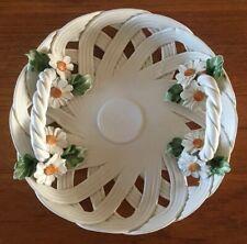 VTG Daisy Basket Lattice Serving Centerpiece Bowl, MAJELLO CAPODIMONTE Italy