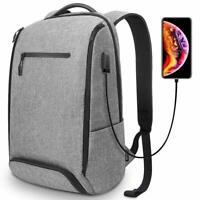 REYLEO Laptop Backpack Business Travel Computer Bag with USB Charging Port Shoe