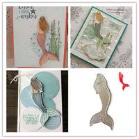Metal Cutting Dies Mermaid Stencils Scrapbooking Album Embossing DIY Card Making