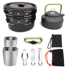 Outdoor Camping Cookware Hiking Cooking Bowl Pot Pan Picnic Cook Saucepan Set