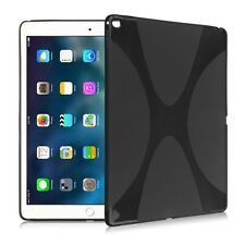 Silicone Skin Case X Line Black for New Apple iPad 9.7 2017 Case Cover Bag