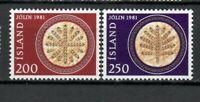 S34032 Island Iceland MNH 1981 Christmas 2v