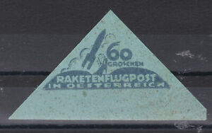 Österreich Schmiedl Raketenflugpost  Vignette 60 Groschen  Postfrisch **