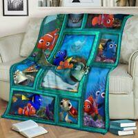 Finding Nemo Fleece Blanket Funny Gift For Friends Family 50-80inch