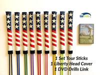 2Pcs Golf Alignment Sticks Swing Tour Trainer Rod Ball Striking Aid Practice