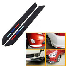 Fit For BMW BENZ 2x Rubber Front Rear Bumper Strips Scratch Protect Corner Guard