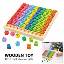 Wooden Toy Baby Gift Multiplication Formula Early Learning Tool Puzzle Board Set