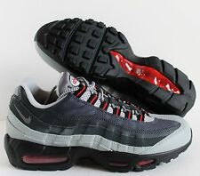 NIKE AIR MAX 95 ESSENTIAL SILVER-GREY-ANTHRACITE-RED SZ 9 [749766-006]