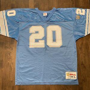 Vintage Detroit Lions Jersey Barry Sanders #20 Wilson NFL Large 90s Authentic
