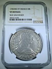NGC 1783 Shipwreck Spanish Silver 8 Reales Antique VF 1700's Dollar Pirate Coin