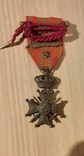Medaille WO I 1914 1918 Oorlogskruis 2 palmen, leeuw, leopoldsorde
