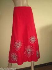 Boden Floral Linen Flippy, Full Skirts for Women