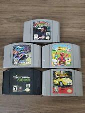 Nintendo 64 Game Lot N64 wrestlemania 2000 aero gauge slugfest elmo beetle authe