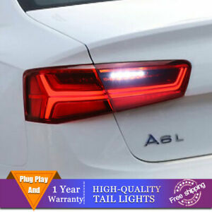 New LED Taillights Assembly For Audi A6 Red LED Rear lights 2012-2015