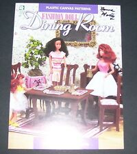 "PLASTIC CANVAS PATTERN LEAFLET BOOK 11 1/2"" FASHION DOLL DINING ROOM"