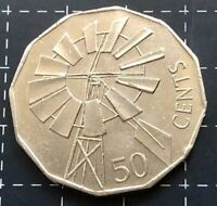 2002 AUSTRALIAN 50 CENT COIN - YEAR OF THE OUTBACK WINDMILL