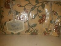 Vintage New Old Stock Pink Floral Wamsutta Twin Fitted Sheet Supercal Plus 50/50