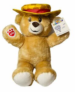 """Build A Bear Workshop Lil Honey Cub 14"""" Teddy Plush Stuffed Toy With Hat Rare"""