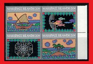 ZAYIX - 1984 Marshall Islands 34a MNH - Outrigger Canoe / Fishing / Fish block