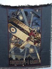 New Mill Street Design Sopwith F-1 Camel Tapestry Throw Blanket Afghan #247