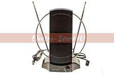 Indoor Digital TV Antenna 50+ mile UHF VHF FM HDTV HIGH GAIN 36dB Signal Booster