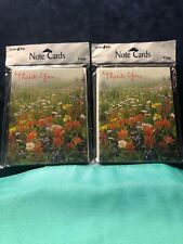 thank you note cards Lot Of 2 Packs