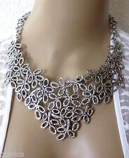 Halsschmuck Damen Kette Halskette Collier Metallkette silberfarben edel