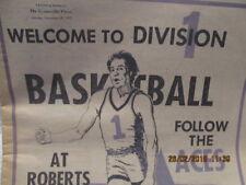 Newspaper Previews 1977-78 University of Evansville Basketball Team, Plane Crash