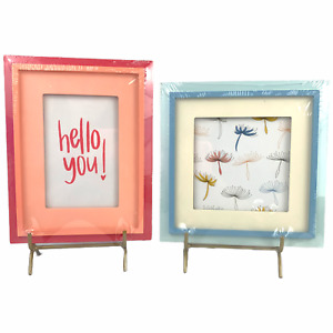 2pc Set Of Picture Frames Pink Hello You & Blue Dandelion Bullseye's Playground